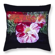 Candy Cane Flower-2 Throw Pillow