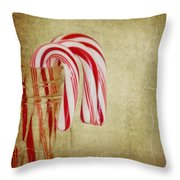Candy Canes Throw Pillow