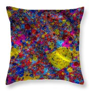 Candy Colored Blast Throw Pillow