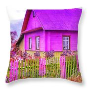 Candy Cottage - Featured In Comfortable Art Group Throw Pillow