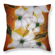 Candy Flowers 2 Throw Pillow