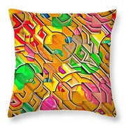 Candy - Lolly Pop Abstract  Throw Pillow