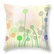 Candy Rain 2 Throw Pillow