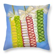 Candy Ribbon  Throw Pillow