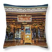 Candy Shop Main Street Disneyland 01 Throw Pillow