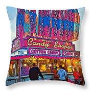 Candy Shoppe Line Art Throw Pillow