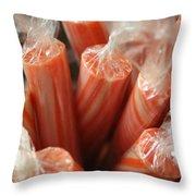 Candy Sticks Throw Pillow
