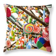Candy Tree Throw Pillow