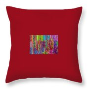 Candy Twists Throw Pillow