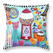 Candy Window Throw Pillow
