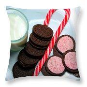 Candycane  Cookies - Milk - Cookies Throw Pillow