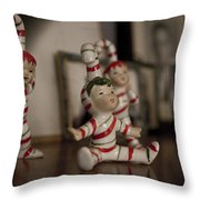 Candycane Kids Throw Pillow