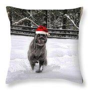 Cane Corso Christmas Throw Pillow