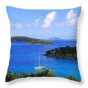 Caneel Bay In St. John In The U. S. Virgin Islands Throw Pillow