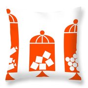 Canisters In Orange Throw Pillow