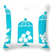 Canisters In Turquoise Throw Pillow