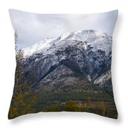 Canmore Rocky Mountain View  Throw Pillow