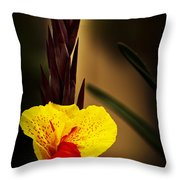 Canna Lily 2 Throw Pillow