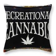 Cannabis Marijuana Store In Ridgway Throw Pillow