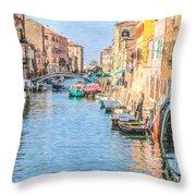 Cannareggio Canal Venice Throw Pillow