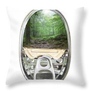 Canned Forest Throw Pillow