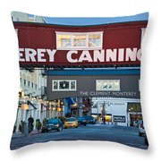 Cannery Row Area At Dawn, Monterey Throw Pillow