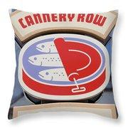 Cannery Row Directory At The Monterey Bay Aquarium California 5d25020 Throw Pillow