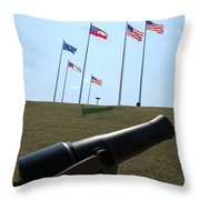 Cannon At Fort Sumter Throw Pillow