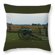 Cannon At Gettysburg Throw Pillow