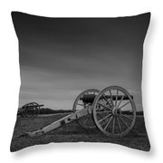 Cannon At Henry Hill Throw Pillow