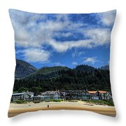 Cannon Beach South Throw Pillow
