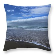 Cannon Beach Surf And Storm Throw Pillow