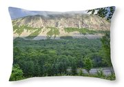 Cannon Cliff - Franconia Notch State Park New Hampshire Usa  Throw Pillow