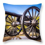 Cannon In New Orleans Washington Artillery Park Throw Pillow