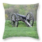 Cannon On Culp's Hill Throw Pillow