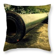 Elephanta Island Cannon Throw Pillow