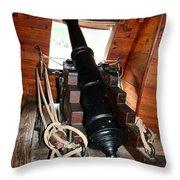 Cannon On Sailship Throw Pillow