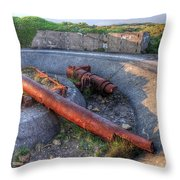 Cannon Remains From Ww2 Throw Pillow