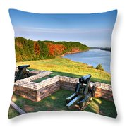 Cannons Overlooking The River Throw Pillow