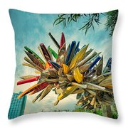 Canoe Art Throw Pillow