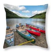 Canoe Break Throw Pillow by Adrian Evans