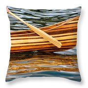 Canoe Lines And Reflections Throw Pillow