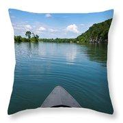 Canoe Ride Throw Pillow