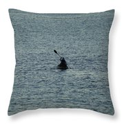 Canoeing In The Florida Riviera Throw Pillow
