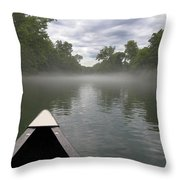 Canoeing The Ozarks Throw Pillow
