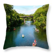 Canoeing The Springs Throw Pillow
