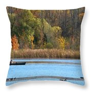 Canoer Throw Pillow