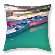 Canoes 3 Throw Pillow