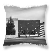Canon City Facades - Black And White Edge Burn Throw Pillow