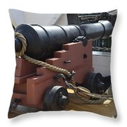 Canon - Charlestown Navy Yard Boston Massachusetts Throw Pillow